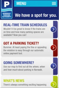 Norwalk Parking Authority's Mobile Website