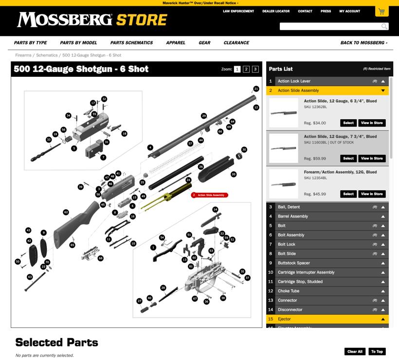 Mossberg 500 Schematic