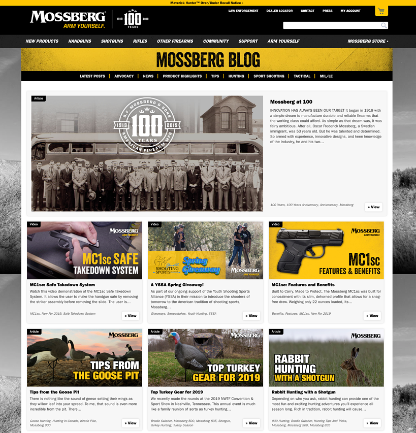 Mossberg Blog Page
