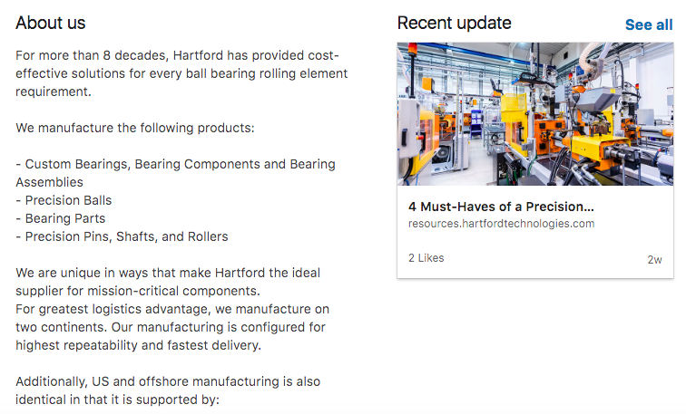LinkedIn for Manufacturing