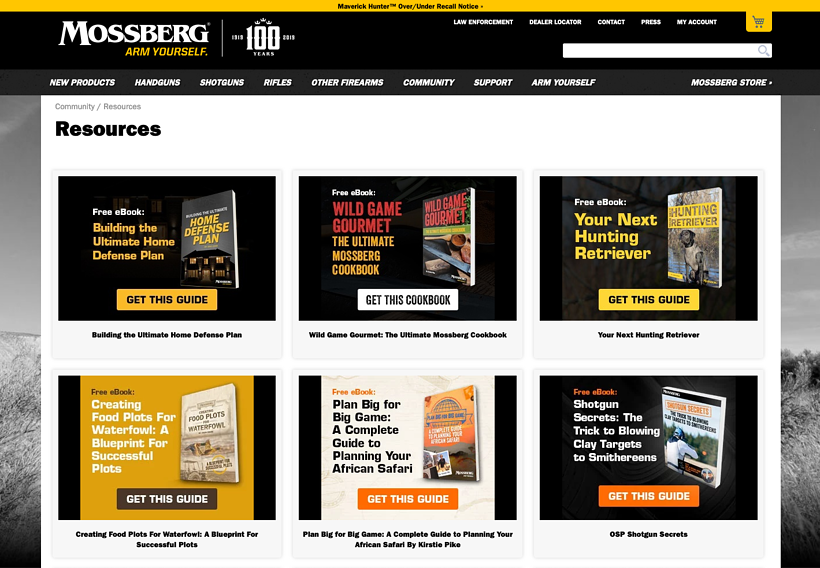 eBooks & Resources Page