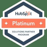 hubspot platinum partner solutions digital marketing company badge award